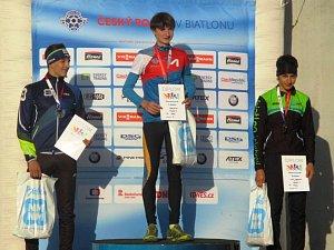 Pro klub biatlonu Manušice Kamenický Šenov vybojoval další mistrovský titul Josef Zátka v dorostencích B.
