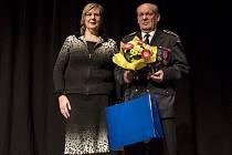 Na snímku Zdeněk Frydrych z předávání ceny Křesadlo, které proběhlo v České Lípě v prosinci 2017.