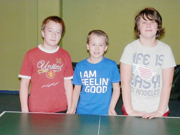 Mladí stolní tenisté českolipské Lokomotivy.