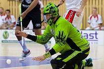 Domácí tým FBC Česká Lípa (v černém) porazil soupeře z Ústí nad Labem 9:4.