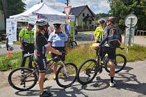 Další akce v rámci projektu Na kole jen s přilbou proběhla v sobotu na cyklostezce v Manušicích.