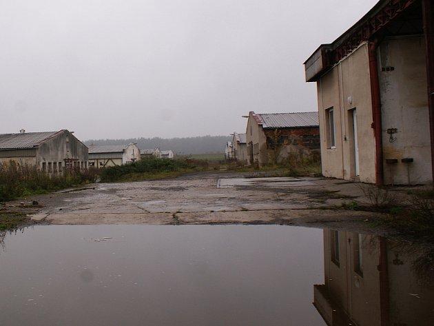 Areál bývalého vepřína vMimoni.