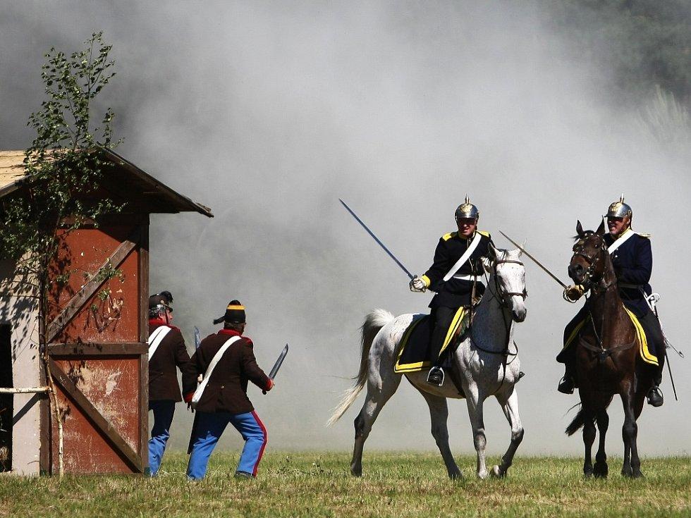 Živý obraz z bitvy u Kuřívod 1866.