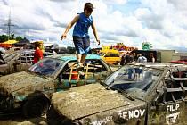 Sedmý ročník Destruction Derby na autodromu v Sosnové.