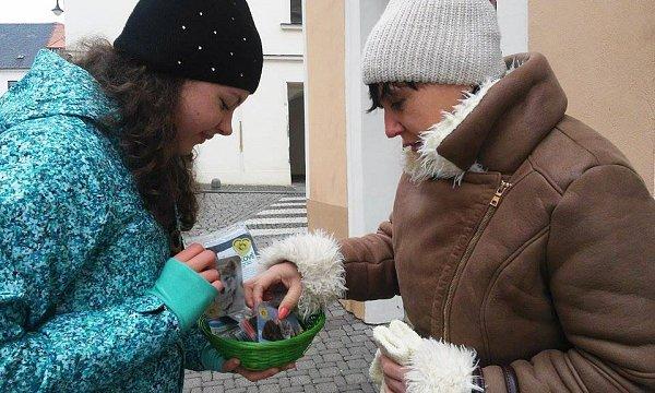 VČeské Lípě se do sbírky zapojilo místní Gymnázium.