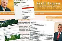 Webové stránky kandidátů do Senátu jsou spíš bídné. Nejlepší má Karel Kapoun a někteří to zachraňují na facebooku.