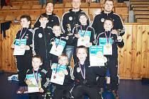 Osm členů klubu SK JUDO Nový Bor se společně s trenéry zúčastnilo soutěže Velká cena města Loun.