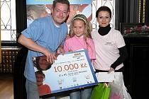 Barbora Suchardová s moderátorem Alešem Hámou a herečkou Danou Morávkovou.