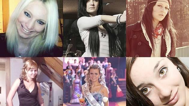 Dívka Máchova jezera: Michala, Lucie. Sabina, Eva, Renata a Nikol.