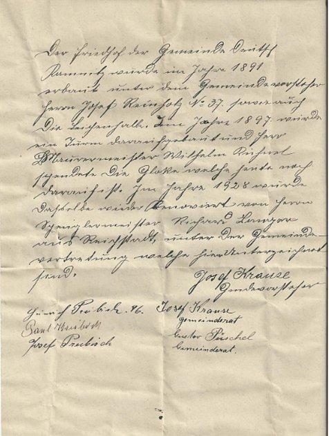 Psaní zroku 1928.