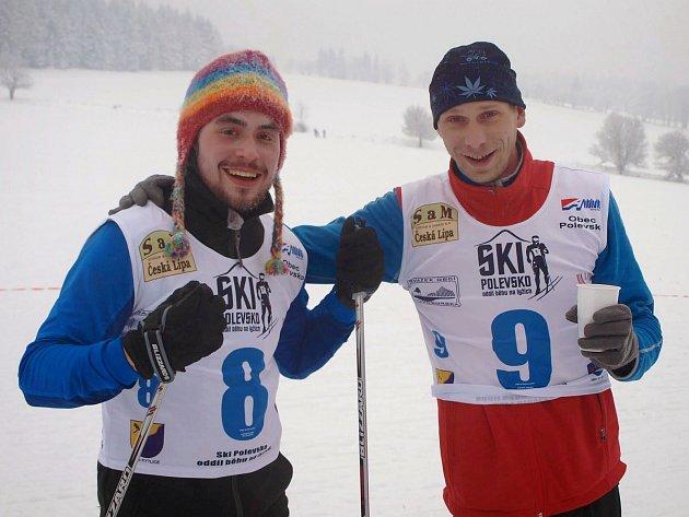 Díky sněhové nadílce mohl oddíl SKI Polevsko uspořádat Silvestrovský běh na lyžích se  startem od Kapličky.
