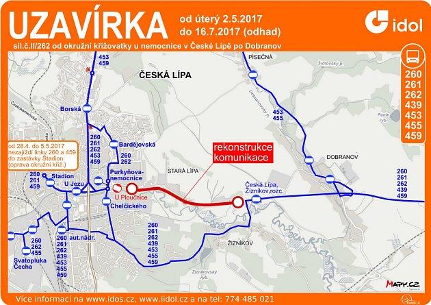 Výlukové jízdní řády platí na sedmi autobusových linkách.