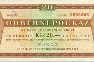 Za tuzexové poukázky, takzvané bony, se v dobách socialismu nakupovalo západní zboží ve speciálních prodejnách.
