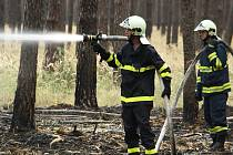 Požárů lesů a trávy v kraji neubývá. Naopak! Hasiči jsou téměř neustále v terénu.