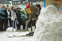 Málo sněhu měli pořadatelé i před dvěma lety. Přesto se závod bez problémů uskutečnil.