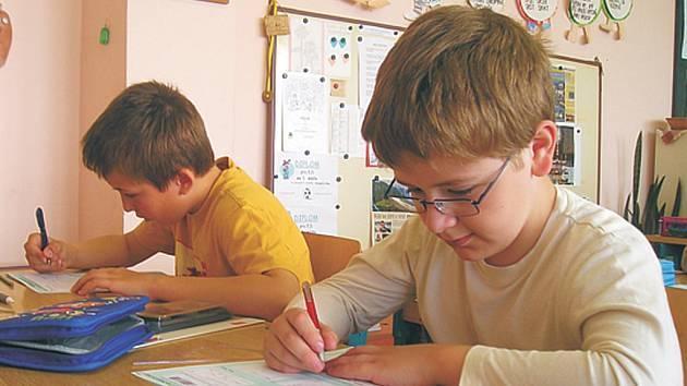 Žáci si vyzkoušeli své znalosti v testu CERMAT