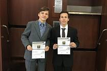 Úspěšní studenti českolipské průmyslovky Jan Herčík a Petr Dušek.