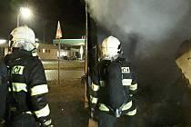 Zásah hasičů v Dubé.