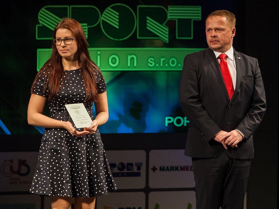 Krajánkem roku se znovu stala úspěšná střelkyně Aneta Brabcová (Olymp Plzeň).