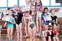 Gymnastky TJ Doksy přesvědčivě zvítězily v soutěži družstev, když ve složení Kadlečková Natálie, Lawson Olivia, Vránová Markéta, Holinková Tereza porazily druhý tým ze Sokola Vysoké Mýto o 3 body.
