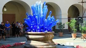 Zákupy oživila skleněná fontána