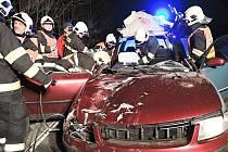 Vážným zraněním teprve osmnáctiletého mladíka skončila v pondělí krátce po 20. hodině dopravní nehoda v obci Dolní Libchava, při které se osobní auto střetlo s krávou.