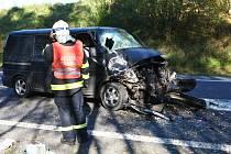 Čtvrteční nehoda u Jablonného si vyžádala dva zraněné.