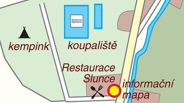 Rekreační areál má rozlohu téměř 1,5 hektaru.