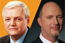 Kandidáti na senátora Karel Kapoun (ČSSD) a Petr Skokan (ODS)