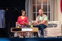 Filip Blažek a Monika Absolonová v muzikálu Duety na Vodním hradě Lipý v České Lípě