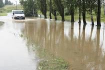 Přívalové deště škodily i v Jablonném.