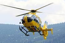 Vrtulník Zdravotnické záchranné služby Libereckého kraje.