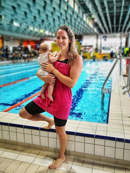 Petra Weber (Chocová) je maminkou na plný úvazek. S plaváním však nechce skončit.