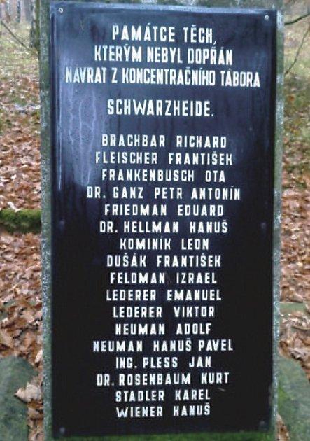 Pietní místo pro oběti pochodu smrti vareálu ZŠ Špičák.