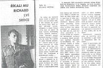 Vpátek 23. března 2020 uplynulo 53 let od smrti generálmajora Richarda Tesaříka.
