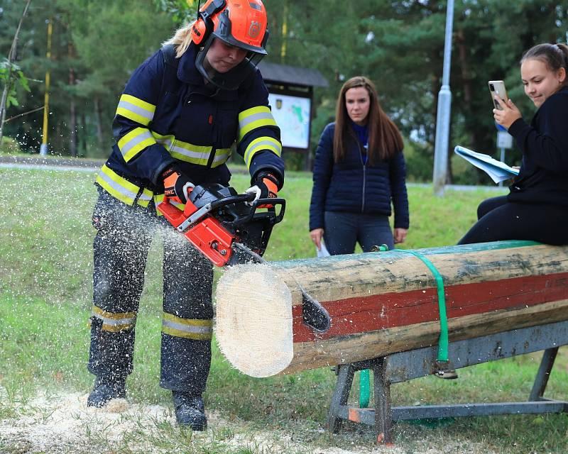 Ve Stráži se konal druhý ročník dřevorubecké soutěže pro hasiče.