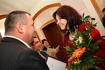 Podruhé si ocenění za výbornou pedagogickou práci odnesli českolipští učitelé. Jedna z oceněných Šárka Mášková.