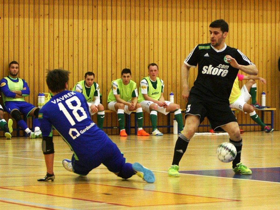 Šafářovu šanci zmařil litoměřický gólman Vavrek.