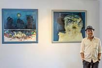 Výstava obrazů ve Sklářském muzeu v Kamenickém Šenově.