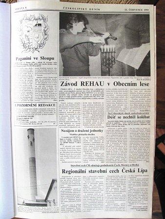 Českolipský deník vychází pod tímto názvem přesně dvacet let. Za tu dobu se hodně změnilo nejen vnaší zemi, ale také vnovinařině.