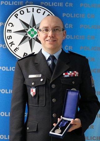 Medaili za zásluhy obezpečnost vúterý převzal šéf českolipských policistů Petr Rajt.