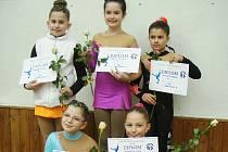 """Oceněny byly také všechny talentované českolipské krasobruslařky v kategorii """"Žactvo nejmladší B""""."""