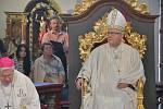 Slavnostní požehnání a mše v kostele Navštívení Panny Marie v Horní Polici po dvouletém uzavření a restaurování. Celebroval biskup litoměřický Jan Baxant.