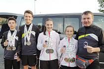 Mladí závodníci Vendula Štěpánová, Anna Harries (SK Liberec), Matěj Štěpán a František Chudoba (GRYF Liberec) pod vedením trenéra Josefa Poláka (SSC Česká Lípa) vybojovali nejlepší umístění v historii LOHDM.