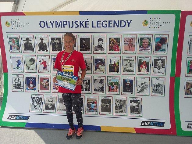 Vendulka Ryšavá z Nového Boru obsadila úžasné celkové druhé místo.