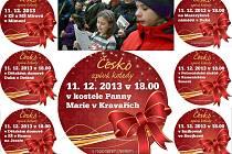 Dnes v 18 hodin zazní na sedmi místech Českolipska pět stejných koled. Přidejte se!