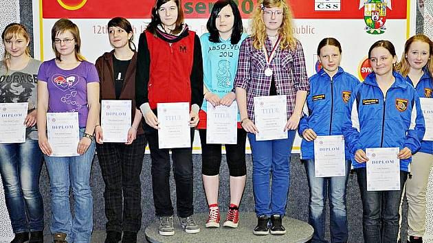 Kolekci medailí završilo družstvo dorostenek ve složení Kateřina Janoušková, Lucie Streubelová a Kateřina Divíšková.
