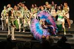 Atmosféru brazilského Ria vnesly do sálu městského kina brazilské tanečnice v krásných kostýmech Viviane a Fabiane.