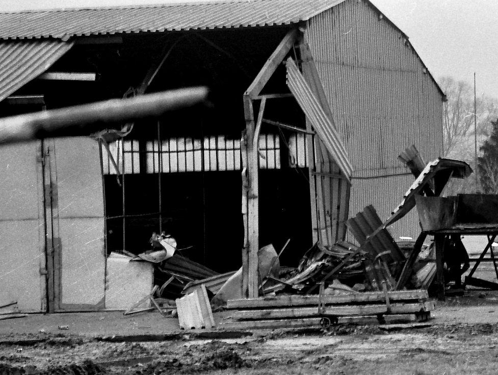 Kasárna v Bohosudově, po výbuchu tanku T-72