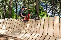 Nový bikepark na Polevsku